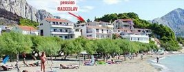 Pension Radoslav at Duce beach